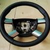 Руль Ford Focus 2 из комбинации гладкой и перфорированной натуральной кожи №1