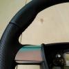 Руль Ford Focus 2 из комбинации гладкой и перфорированной натуральной кожи №3