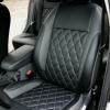 Чехлы для Ford Focus 2 из черно-серой  экокожи с ромбом №2