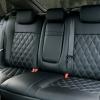 Чехлы для Ford Focus 2 из черно-серой  экокожи с ромбом №5