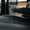 Чехлы для Ford Focus 2 из черно-серой  экокожи с ромбом №7