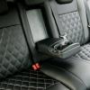 Чехлы для Ford Focus 2 из черно-серой  экокожи с ромбом №8