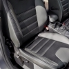 Чехлы для Ford Focus 3 из черно-серой  экокожи №2