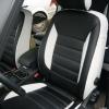 Авточехлы из черно-белой экокожи для Ford Galaxy №2