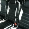 Авточехлы из черно-белой экокожи для Ford Galaxy №3
