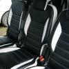 Авточехлы из черно-белой экокожи для Ford Galaxy №4