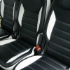 Авточехлы из черно-белой экокожи для Ford Galaxy №5