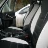 Авточехлы из черно-белой экокожи для Ford Galaxy №6