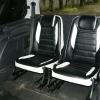 Авточехлы из черно-белой экокожи для Ford Galaxy №10
