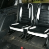 Авточехлы из черно-белой экокожи для Ford Galaxy №11