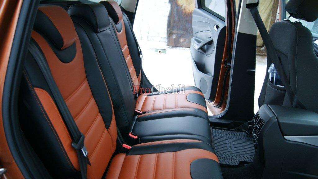 Krong авточехлы черно-коричневые