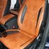 Чехлы из черно-коричневой экокожи для Ford Mondeo 4 №3