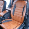 Чехлы из черно-коричневой экокожи для Ford Mondeo 4 №4