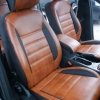 Чехлы из черно-коричневой экокожи для Ford Mondeo 4 №5