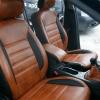 Чехлы из черно-коричневой экокожи для Ford Mondeo 4 №6