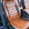 Чехлы из черно-коричневой экокожи для Ford Mondeo 4 №7