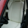 Авточехлы из белой экокожи для Land Rover Freelander