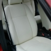 Авточехлы из белой экокожи для Land Rover Freelander №1