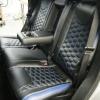 Чехлы для  Jeep Grand Cherokee из черной и синей экокожи  №10
