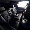 Чехлы для  Jeep Grand Cherokee из черной и синей экокожи  №11