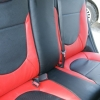 Красно-черный салон Hyundai Solaris. Перетяжка экокожей №1