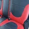 Красно-черный салон Hyundai Solaris. Перетяжка экокожей №4