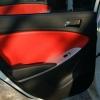 Красно-черный салон Hyundai Solaris. Перетяжка экокожей №6