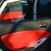 Красно-черный салон Hyundai Solaris. Перетяжка экокожей №7