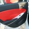 Красно-черный салон Hyundai Solaris. Перетяжка экокожей №8