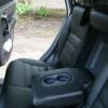 Чехлы из черной экокожи для Honda CRV 3 фото 5