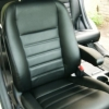 Чехлы из черной экокожи для Honda CRV 3 фото 10