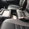 Чехлы для  Honda FR-V из черной и серой экокожи с двойной отстрочкой №6