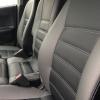 Чехлы для  Honda FR-V из черной и серой экокожи с двойной отстрочкой №7