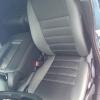 Чехлы для  Honda FR-V из черной и серой экокожи с двойной отстрочкой №4