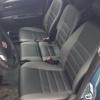 Чехлы для  Honda FR-V из черной и серой экокожи с двойной отстрочкой №10