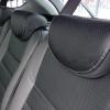 Чехлы для  Honda FR-V из черной и серой экокожи с двойной отстрочкой №2