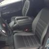 Чехлы для  Honda FR-V из черной и серой экокожи с двойной отстрочкой №3