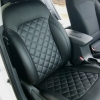 Чехлы для Hyundai Elantra 6 из черной экокожи с ромбом №3