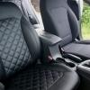 Чехлы для Hyundai Elantra 6 из черной экокожи с ромбом №4