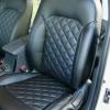 Чехлы для Hyundai Elantra 6 из черной экокожи с ромбом №5