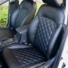 Чехлы для Hyundai Elantra 6 из черной экокожи с ромбом №6