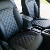 Чехлы для Hyundai Elantra 6 из черной экокожи с ромбом №7