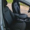 Чехлы для Hyundai Elantra 6 из черной экокожи с ромбом №8
