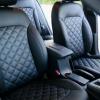 Чехлы для Hyundai Elantra 6 из черной экокожи с ромбом №9