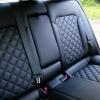 Чехлы для Hyundai Elantra 6 из черной экокожи с ромбом №11