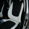 Авточехлы из черно-белой экокожи для Hyndai I20 №1