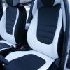 Авточехлы из черно-белой экокожи для Hyndai I20 №2