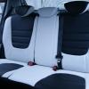 Авточехлы из черно-белой экокожи для Hyndai I20 №12