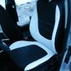Авточехлы из черно-белой экокожи для Hyndai I20 №17