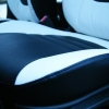 Авточехлы из черно-белой экокожи для Hyndai I20 №18